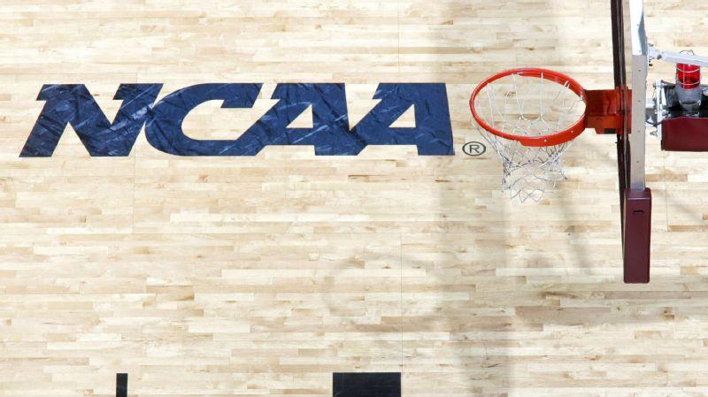NCAA logo and hoop