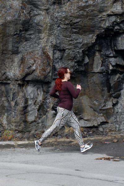 Megan Ann Wilson runs in the Adidas PureBoost X