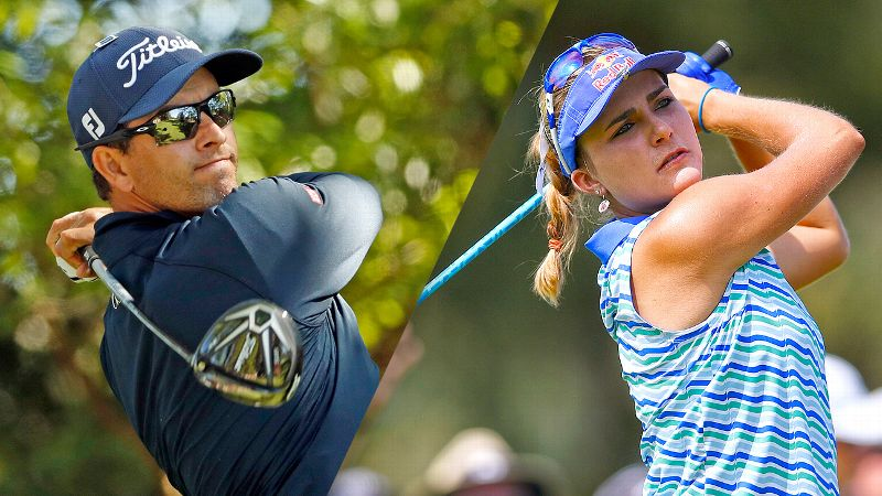 Adam Scott and Lexi Thompson