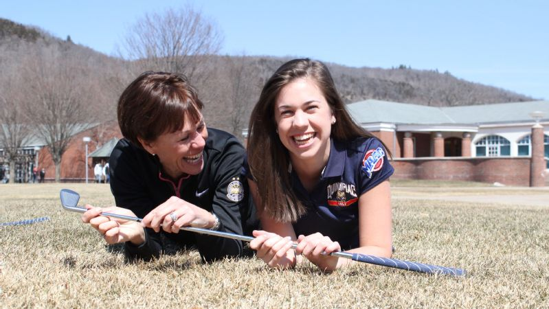 With her mother, legendary golfer Suzy Whaley, as an assistant coach, Jenn Whaley helped lead Quinnipiac to its first NCAA tournament appearance in her senior year.