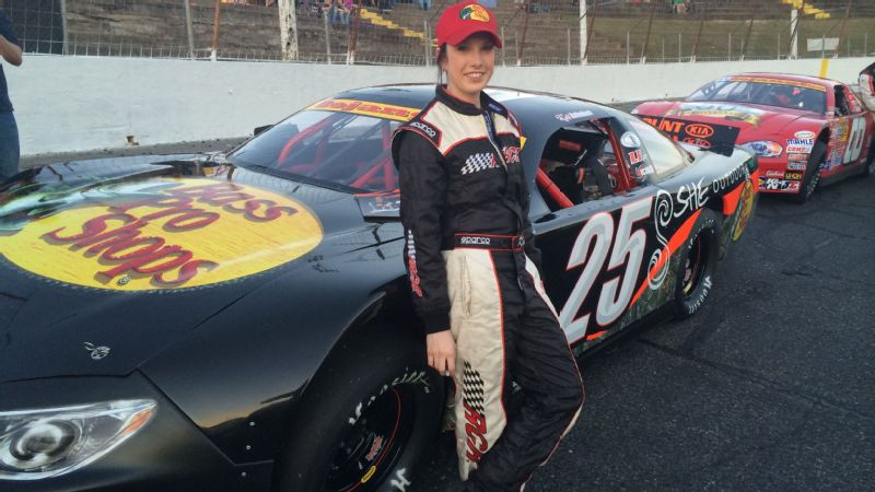Kate Dallenbach won her first late model race last month at the famed Hickory Motor Speedway in Newton, North Carolina.