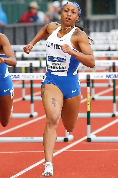 Kentucky redshirt freshman Jasmine Camacho-Quinn ran the 100-meter hurdles in 12.75 seconds, which topped the leaderboard in the semifinals.