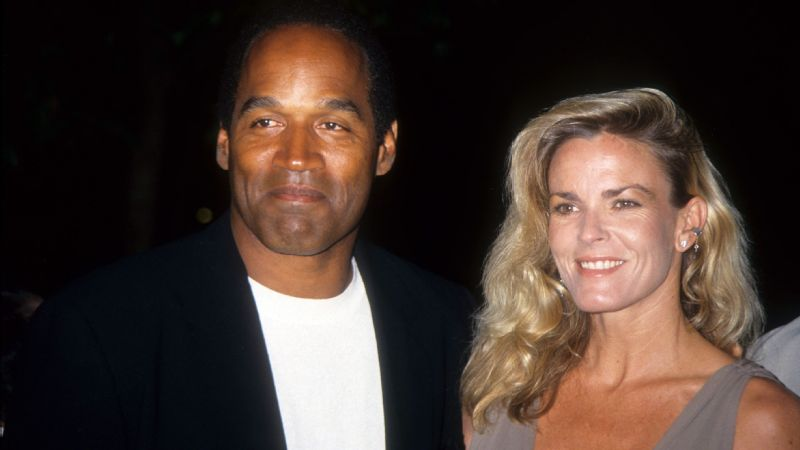 O.J. Simpson and Nicole Brown Simpson in March 1994.