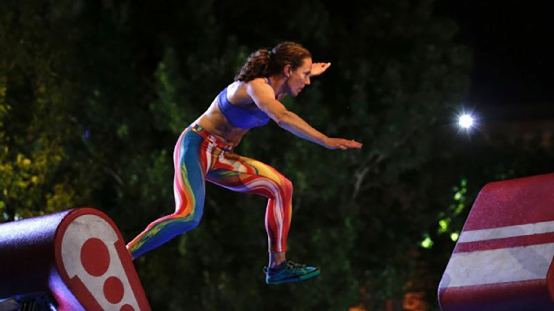 Rose Wetzel competing in American Ninja Warrior Oklahoma City qualifying.
