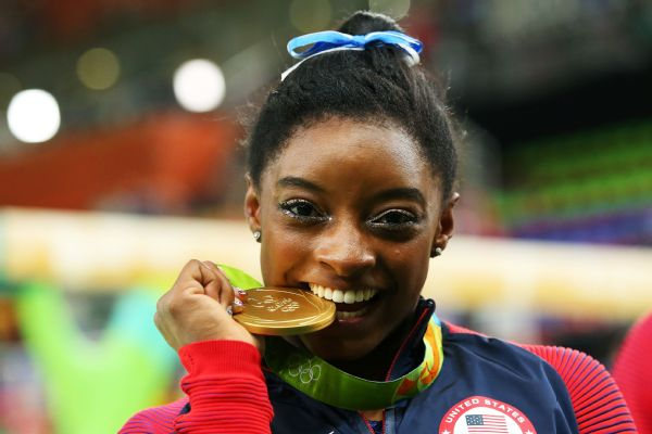Simone Biles nabbed four gold medals and one bronze at the 2016 Rio Olympics.