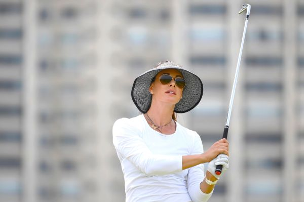 Maria Verchenova posted nine birdies, a hole-in-one and two bogeys in her round of 62 on Saturday.