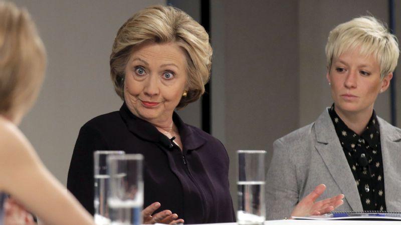 Hillary Clinton, Megan Rapinoe