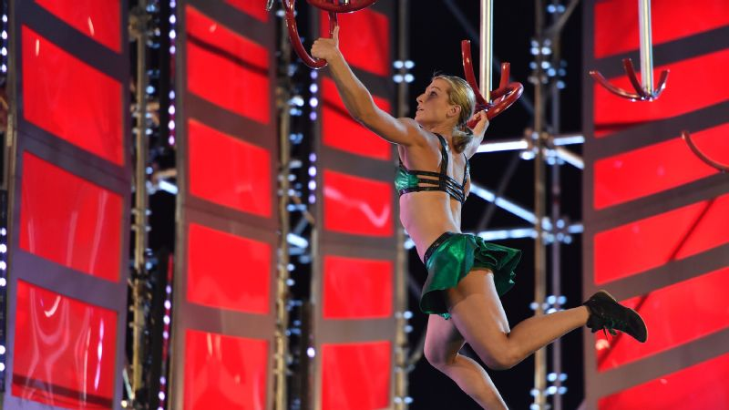Jessie Graff was the first woman to compete in Stage 2 of the American Ninja Warrior national finals.