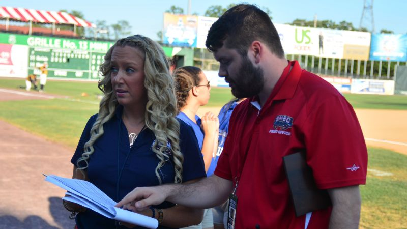 Courtney Knichel started with the Southern Maryland Blue Crabs in 2008 as an intern. Now she's the independent league team's general manager.