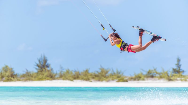 Hope LeVin used to kite twice a day in the morning and in the afternoon -- and visualize her tricks while she rested in between.