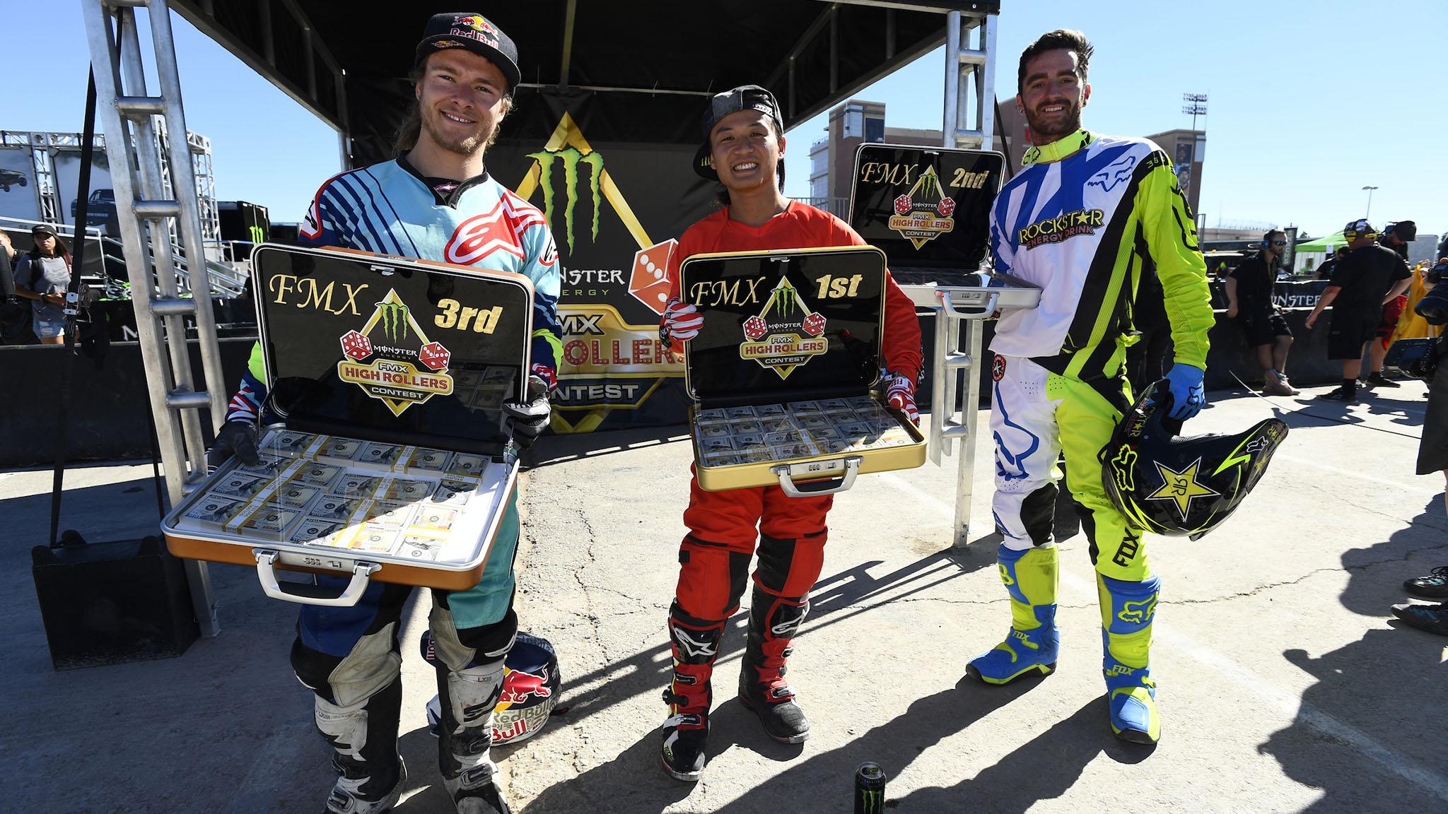 FMX podium winners
