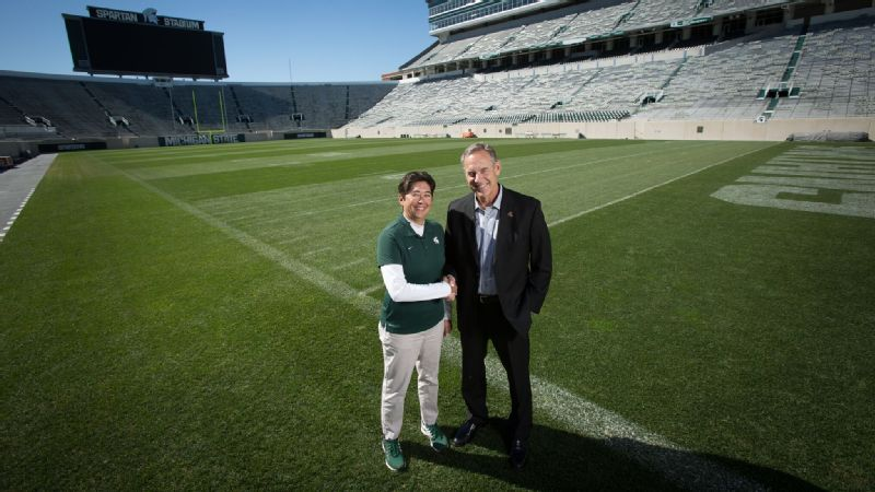 With Amy Fouty managing Michigan State's Spartan Stadium turf, head football coach Mark Dantonio knows the field will be in great condition for each game.