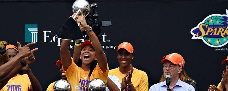L.A. Sparks victory celebration