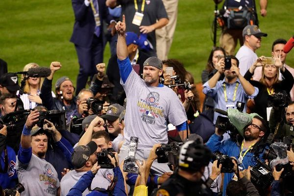 David Ross retired from baseball after helping the Cubs win their first World Series title since 1908.