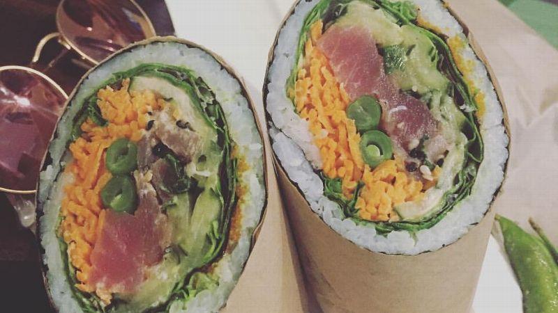 Izzi Gomez's sushi burritos