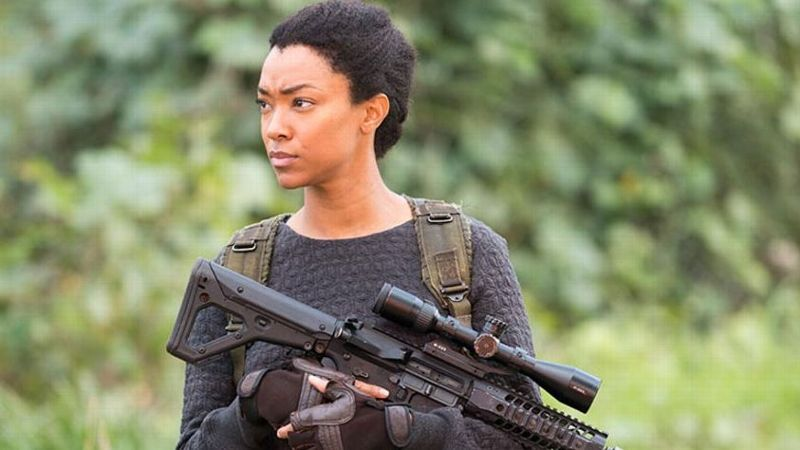 Having received stage combat certification in eight different weapons while in college, Sonequa Martin-Green was more than ready to play Sasha on The Walking Dead.