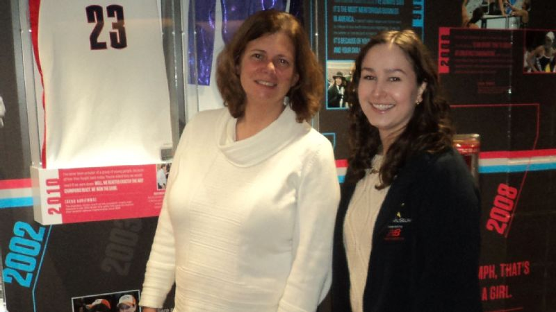 While Michelle Gormley is surrounded by Celtics and Bruins memorabilia, her favorite display is the Title IX exhibit. When she tells kids about its historical impact, they often can't believe women didn't have the opportunities they have today.