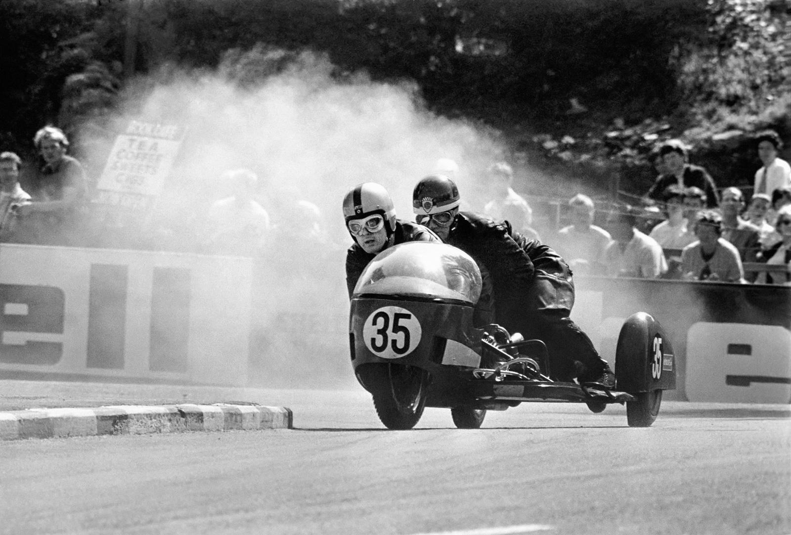 Classic side car racing