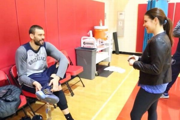 Amara Baptist is there to see Grizzlies like Marc Gasol interacting with fans before games, and she'll be the one to document it over social media.
