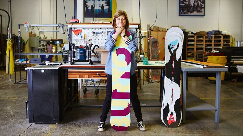 Burton Snowboards president and CEO Donna Carpenter has championed several women's initiatives at the Burlington, Vermont-based company.