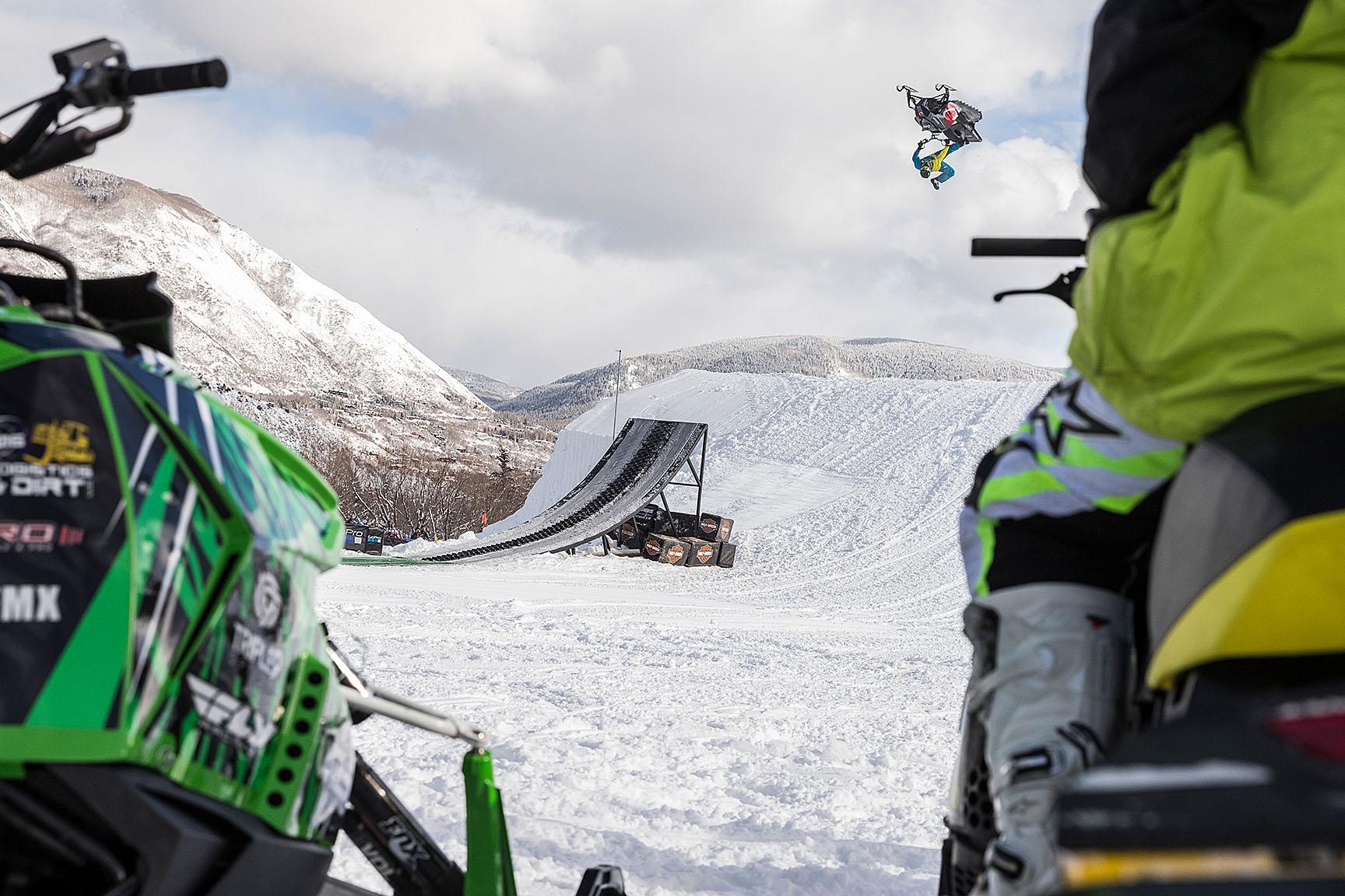 Josh Penner, Freestyle Snowmobile practice