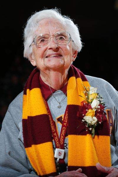 Sister Jean's pregame prayer typically receives an eruption of applause from the crowd.