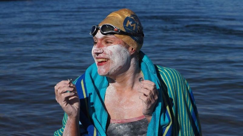 Sarah Thomas has completed the English Channel, the Catalina Channel and the Manhattan Island Marathon Swim, as well as this record-setting 80-mile swim across Lake Powell and back.