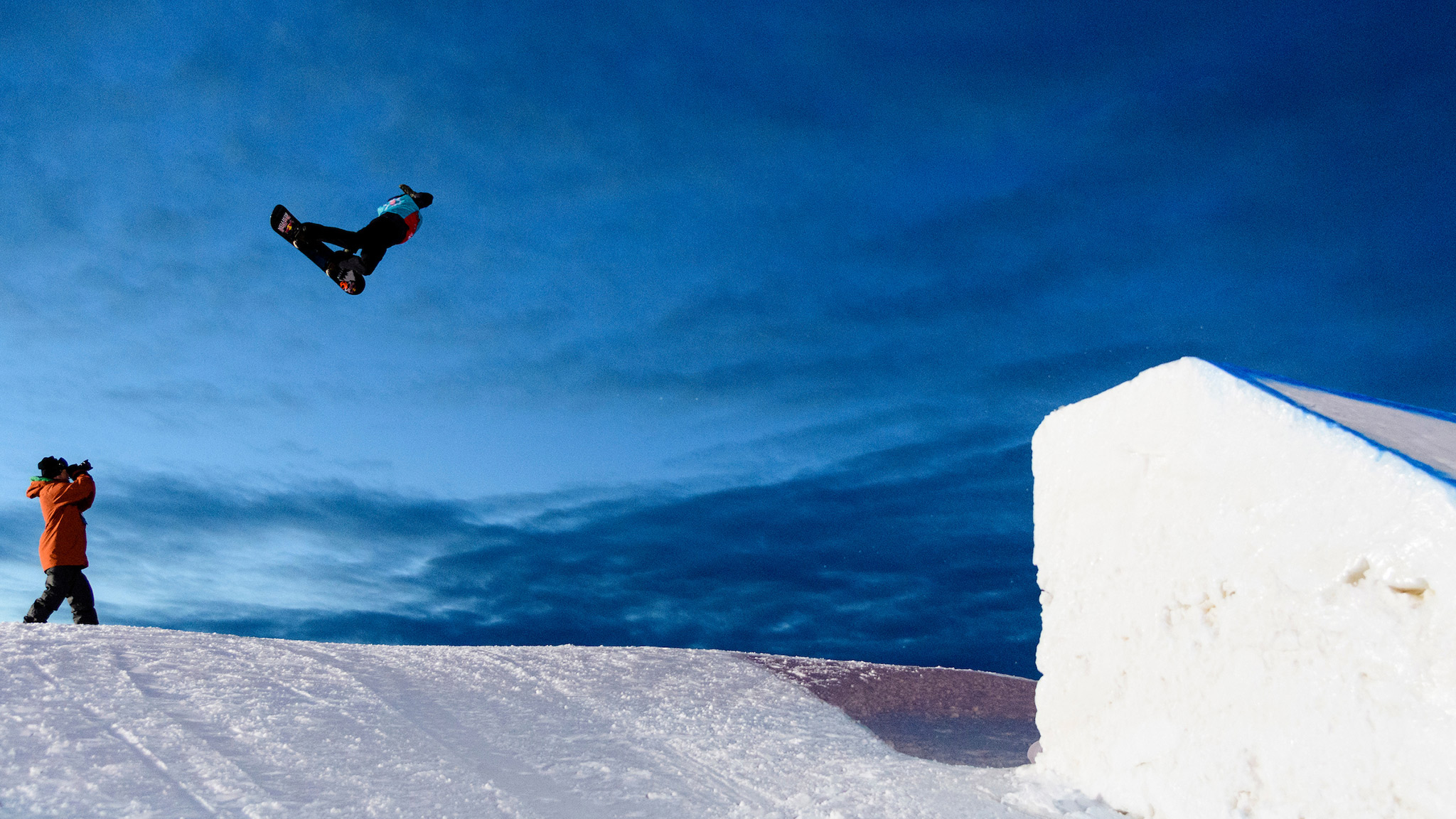 Mark McMorris, Men's Snowboard Slopestyle practice