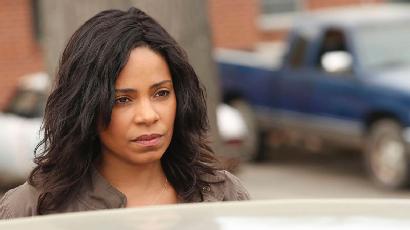 Sanaa Lathan stars as seasoned investigator Ashe Akino on Fox's Shots Fired, which debuts on Wednesday.