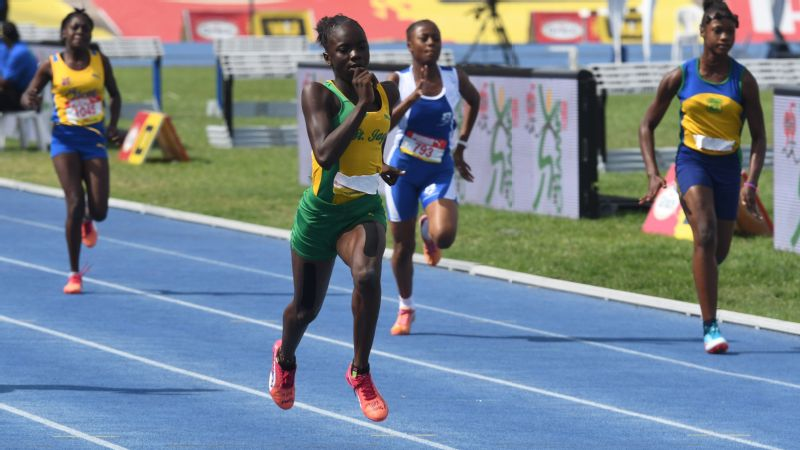 Brianna Lyston was used to being out in front at Champs in Kingston, Jamaica, on April 1.