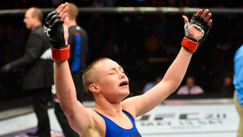 Rose Namajunas (6-3-0) will face undefeated strawweight champion Joanna Jedrzejczyk (14-0-0) at UFC 217 in New York on Saturday.
