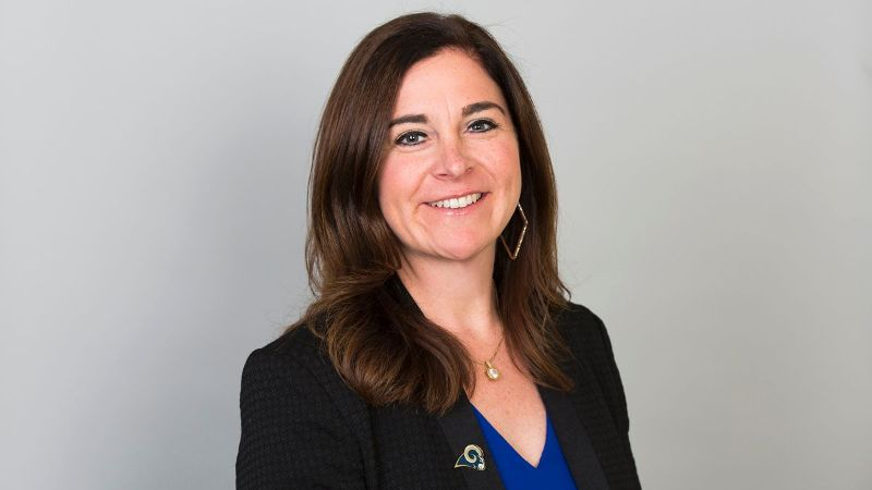 From St. Louis to Los Angeles, Molly Higgins is one of the longest tenured female executives in the Rams organization.