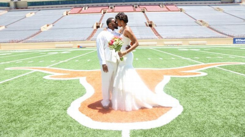 Chicago Sky center Imani Boyette married her Longhorns' defensive tackle husband, Paul Boyette Jr., while both were still coeds at the University of Texas.