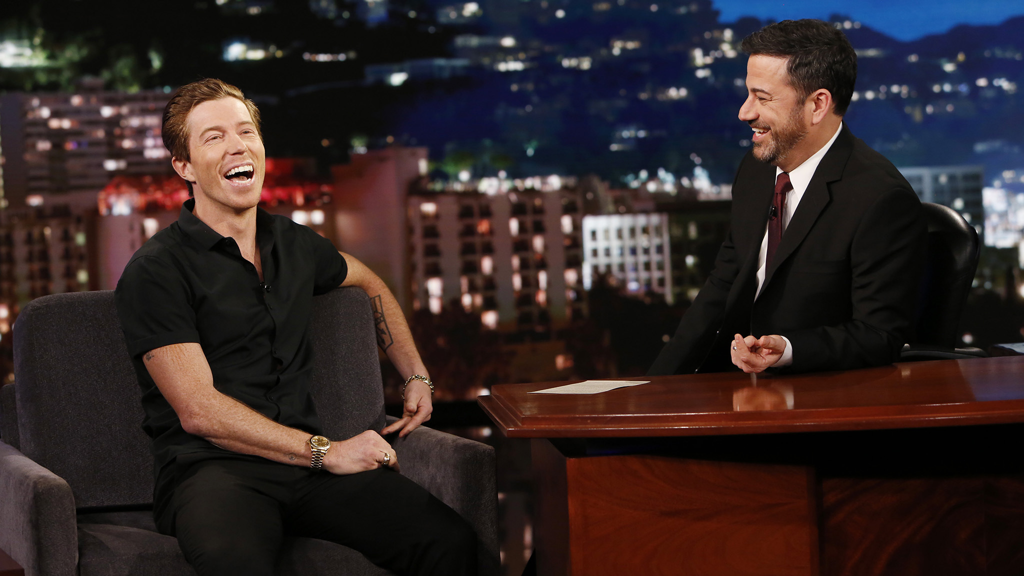 My parents explained to me what happened, but they didn't hover over me to be cautious, explains Shaun White to Jimmy Kimmel.