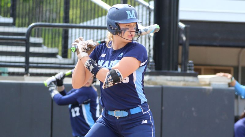 University of Maine third baseman Alyssa Derrick wants to be known for more than throwing a football.