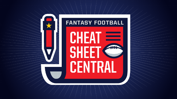 Fantasy Football cheat sheets -- 2018 player rankings, draft board