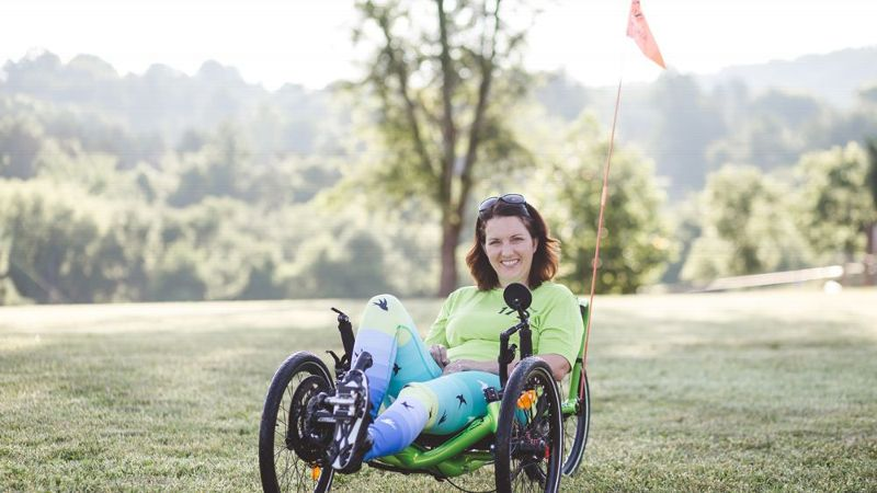 It was just so hard to believe that wheelchair-bound people living on machines, that that would be me in two years, Andrea Peet says on learning that she was diagnosed with ALS.