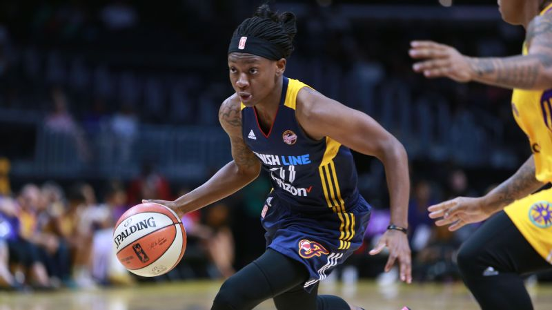 Guard Erica Wheeler is averaging 11.1 points per game for the Indiana Fever this season.