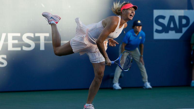 Sharapova wins first WTA match in US since 2015