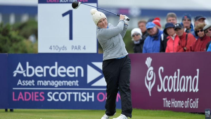 British Women's Open: Michelle Wie leads after setting course record at Kingsbarns