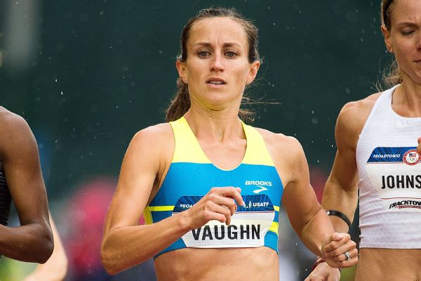 Sara Vaughn finished seventh at the 2016 Olympic trials, less than a year after giving birth to Cassidy.