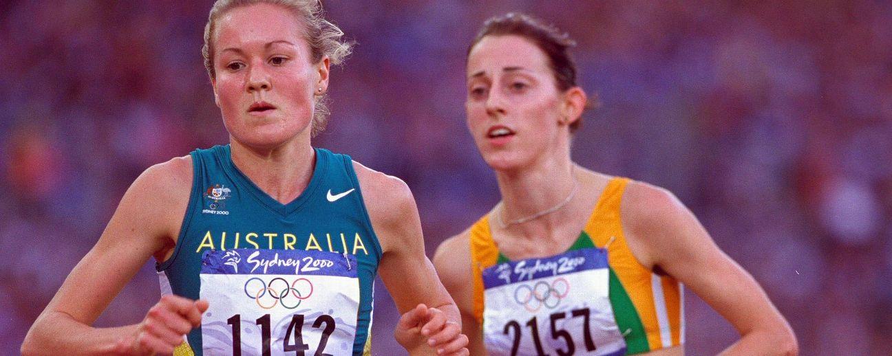 Benita Willis running the 5000m at the Sydney Olympics.