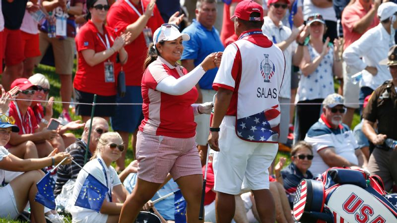 Thanks to Lizette Salas' strong play on Friday, the U.S. jumped out to a 5 1/2-2 1/2 lead over Europe on the first day of the Solheim Cup.