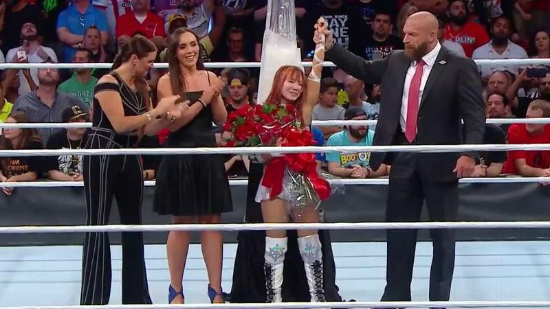 Kairi Sane defeated Shayna Baszler in the finals of the Mae Young Classic.