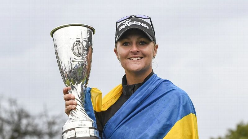 Sweden's Anna Nordqvist won the Evian Championship in a playoff, which was shortened to 54 holes due to weather.