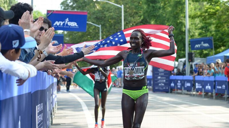 Aliphine Tuliamuk is a favorite to win this year's TCS New York City Marathon -- and won three national road titles last year.