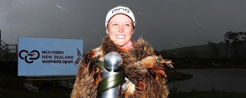 Brooke Henderson, after winning the New Zealand Women's Trophy