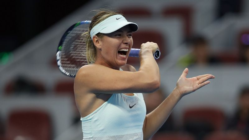 Maria Sharapova wins in Tianjin