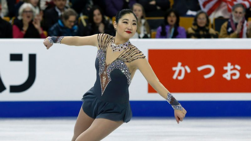 Mirai Nagasu, a 2010 Olympian, placed third at the 2014 U.S. figure skating championships but was not selected for the three-woman Sochi Olympic team.