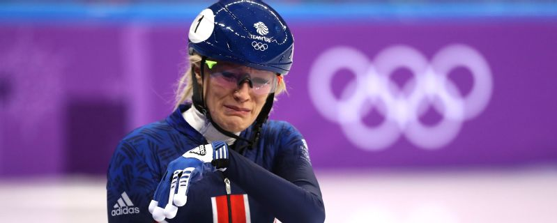 Elise Christie was left in tears after falling in the 500m final -- she was looking to make amends for crushing disappointment four years earlier in Sochi.